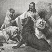 Tewodros Holding Audience, Surrounded Art Print