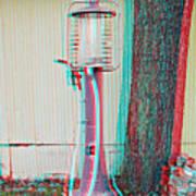 Texaco Gas Pump - Use Red-cyan 3d Glasses Art Print