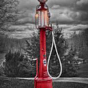 Texaco Gas Pump Art Print