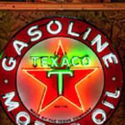 Texaco Gasoline Art Print