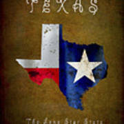 Texas ... The Lone Star State Art Print