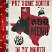 Texas Barbecue 4 Art Print
