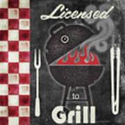 Texas Barbecue I Art Print