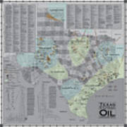 Texas - Birthplace Of The Modern Oil Industry Art Print