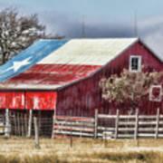 Texas Flag Barn #6 Art Print