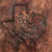 Texas Horned Toad Art Print