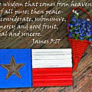 Texas Icons James 3v17 Art Print