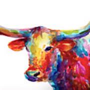 Texas Longhorn Art Art Print