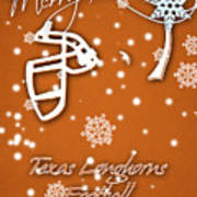 Texas Longhorns Christmas Card Art Print
