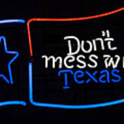 Texas Neon Sign Art Print