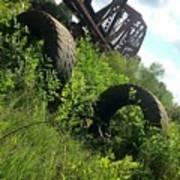 Texas Railway And Tires Art Print