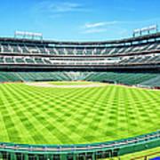 Texas Rangers Ballpark Waiting For Action Art Print