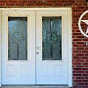 Texas Star Double Doors Art Print