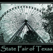 Texas Star Aqua Poster Art Print