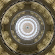 Texas State Capitol - Interior Dome Art Print