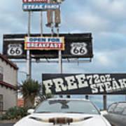 Texas Steak House Kitsch  Art Print