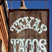 Texas Tacos Art Print by Charles Dobbs