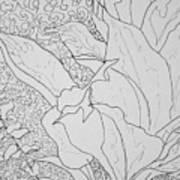 Texture And Foliage Art Print