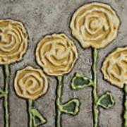 Texture Blooms In Sunshine Art Print