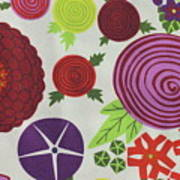 Texture Of Colored Fabric Art Print