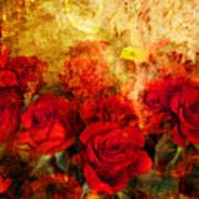 Texture Roses Art Print