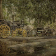 Textured Carriages Art Print
