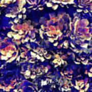 Textured Garden Succulents Art Print