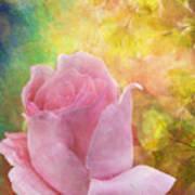 Textured Rose Art Print