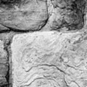 Textured Stone Wall Art Print