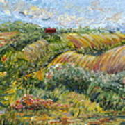 Textured Tuscan Hills Art Print