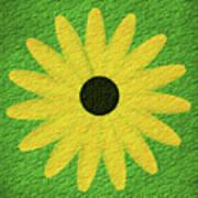 Textured Yellow Daisy Art Print