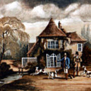 Th Hunting Lodge. Art Print