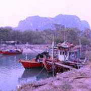 Thai Fishing Boats 05 Art Print