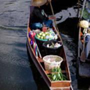 Thai Floating Village 1 Art Print