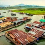 Thai Floating Village Art Print
