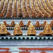 Thai Temple Roof Art Print