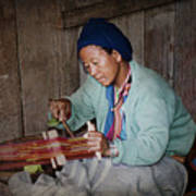 Thai Weaving Tradition Art Print