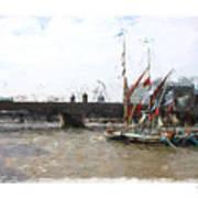 Thames Barges Art Print