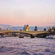 Thames Glow Art Print