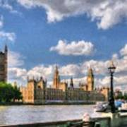 Thames River In London # 3 Art Print