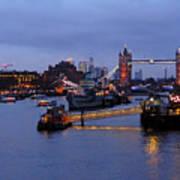 Thames Riverside Art Print
