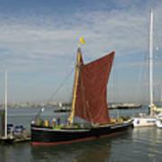 Thames Sailing Barge 'alice' Art Print
