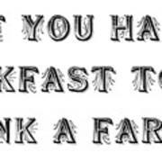 Thank A Farmer Art Print