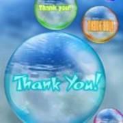 Thank You Bubbles Art Print