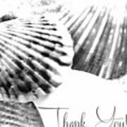 Thank You Seashell Art Print