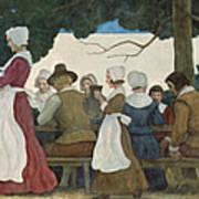 Thanksgiving Banquet Art Print