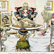 Thanksgiving Cartoon, 1898 Art Print