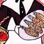 Thanksgiving Lady Pilgrim Art Print