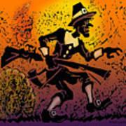 Thanksgiving Pilgrim Art Print