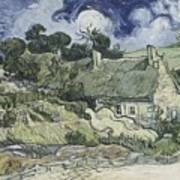 Thatched Cottages At Cordeville Art Print